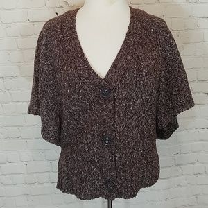 Brown, batwing sweater